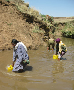 Mairi Tuji of Ethiopia's Kelecho Gerbi village used to spend six hours a day hauling water. Photo courtesy of Water1st International.