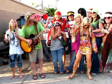 Group of new hippies in Ocean Beach
