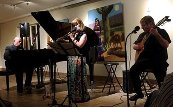 Lori Bell trio performing at La Jolla Community Center