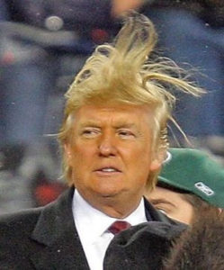 trump hair blowin