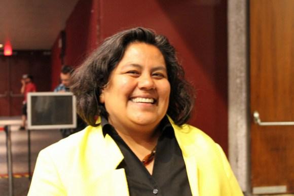 Georgette Gomez will taken on Ricardo Flores in District 9 in November. Photo by Barbara Zaragoza
