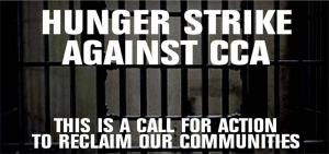 """Graphic for """"Hunger Strike Against CCA"""""""