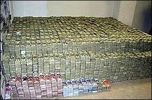 DEA Photo of seized money
