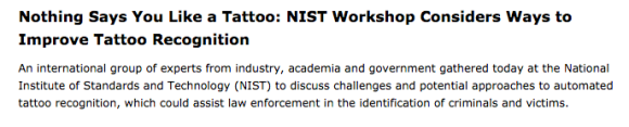 Article from NIST Tech Beat