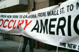 The New School Occupy America Banner
