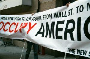 The New School Occupy America Banner