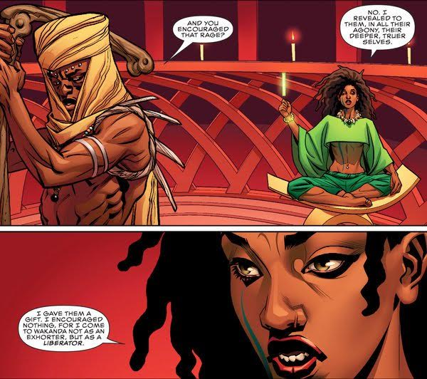 Panel from Marvel comics graphic World of Wakanda