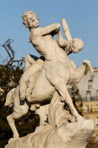Centaur and nymph, Tuileries Garden, Paris