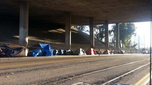 homeless in I5 overpass Bill Adams
