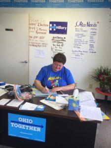 Volunteer Dianne Kerr Clinton-Kaine