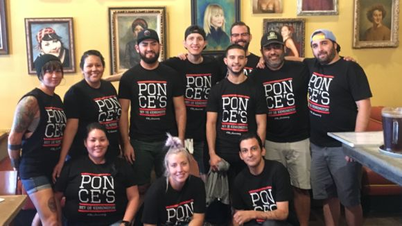Ponce Employees, Mikey Knab last row (glasses, no hat) Photo by Mikey Knab