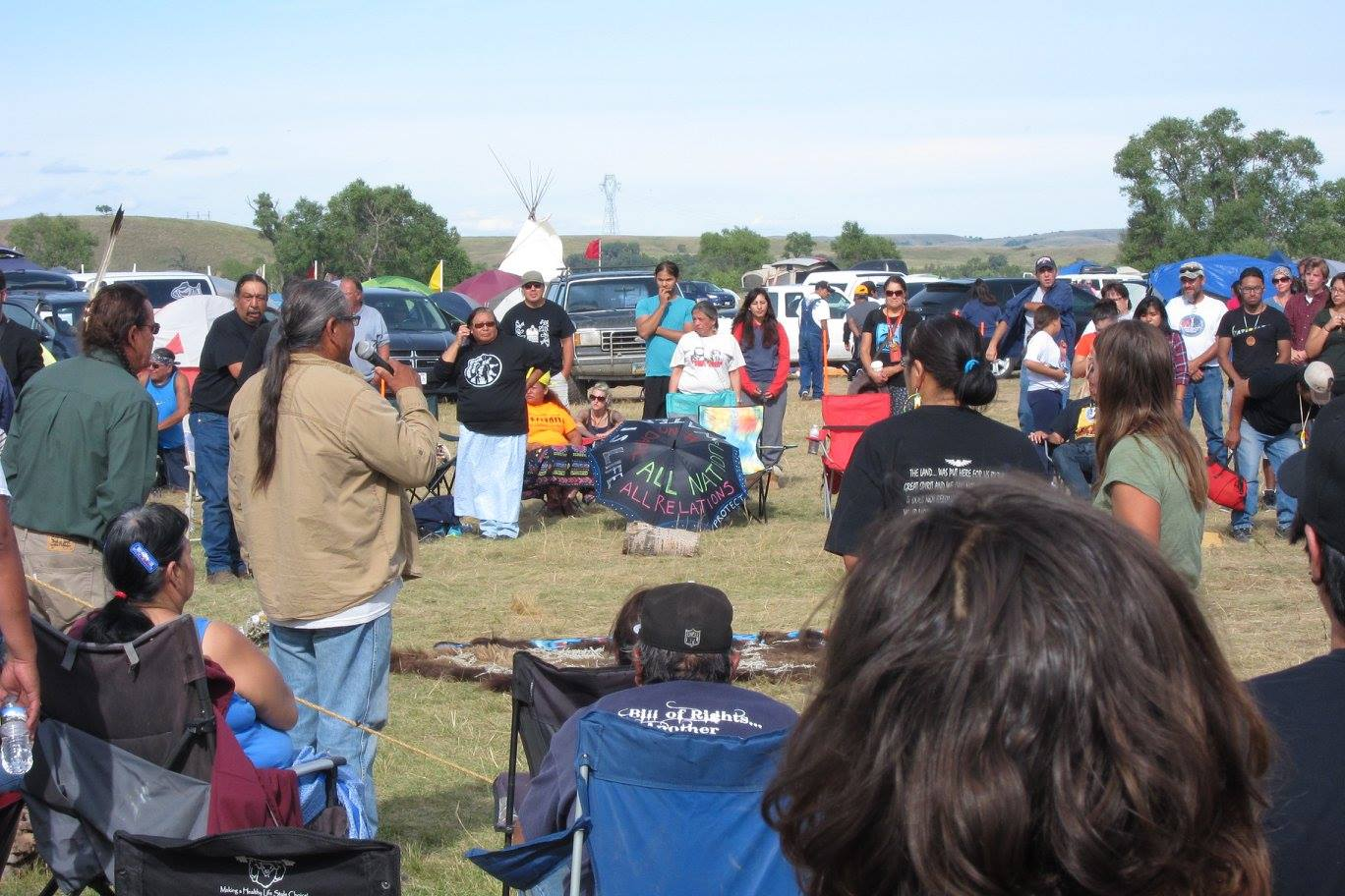Ceremonies at the Oceti Sakawan (main camp) of Standing Rock