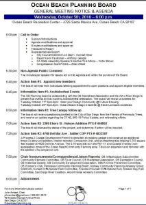 OBPB Agenda