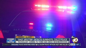 Screenshot of police patrol car with flashing lights