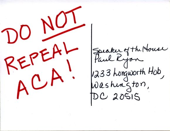 Do not repeal Obamacare