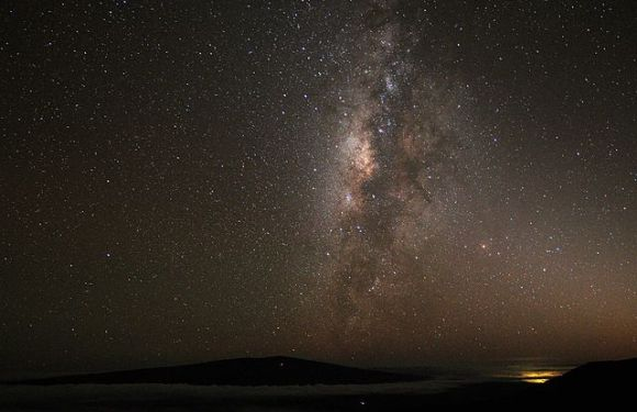 Mauna Kea night time view with Milky Way Human Supremacism