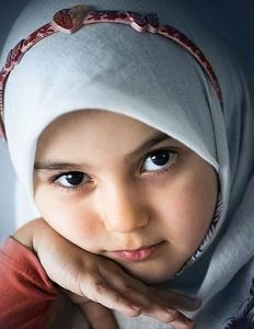 Photo of face of young girl