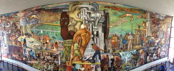 Labor solidarity despite our differences for City college of san francisco diego rivera mural