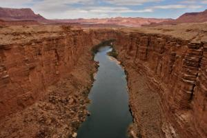 View of Colorado River along Marble Canyon