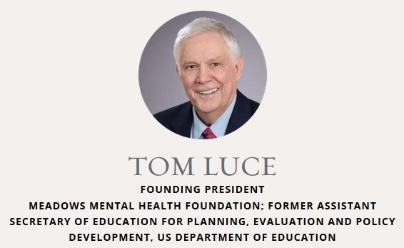 George W. Bush Presidential Center website screenshot of Tom Luce headshot with organization affiliations