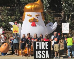 Issa Protesters Cry Fowl Over Sheriffs Ticketing