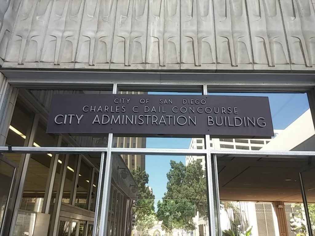 City Administration Building sign plaque