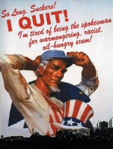 Uncle Sam Says 'So Long, Suckers! I Quit!'