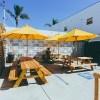 Outdoor patio of coffee shop