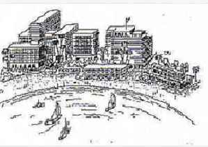 Artist's sketch of a developed Ocean Beach