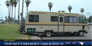 Screenshot of RV parked in parking lot
