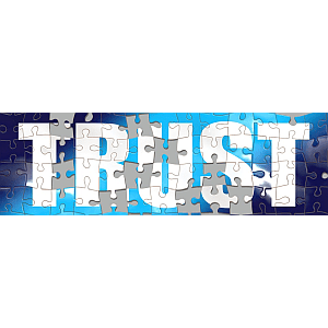 "Jigsaw puzzle of the word ""TRUST"""