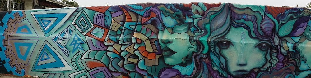 "Wall mural by Gloria ""Glow"" Muriel"