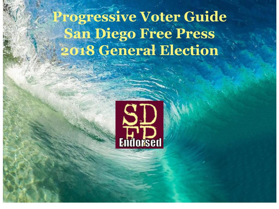 San diego progressive voter guide – 2018 general election.