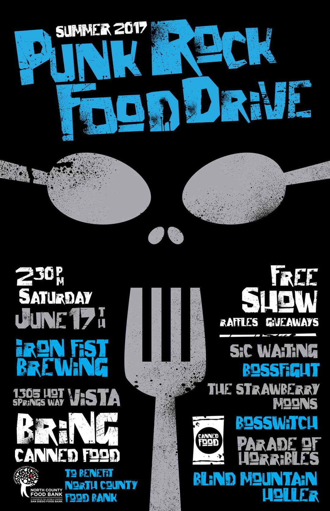 Summer 2017 Punk Rock Food Drive