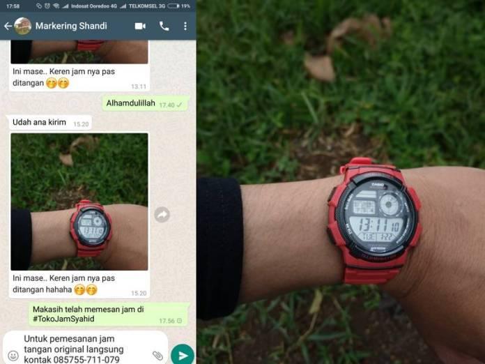 Testimoni pembeli setelah membeli jam tangan original di toko kami
