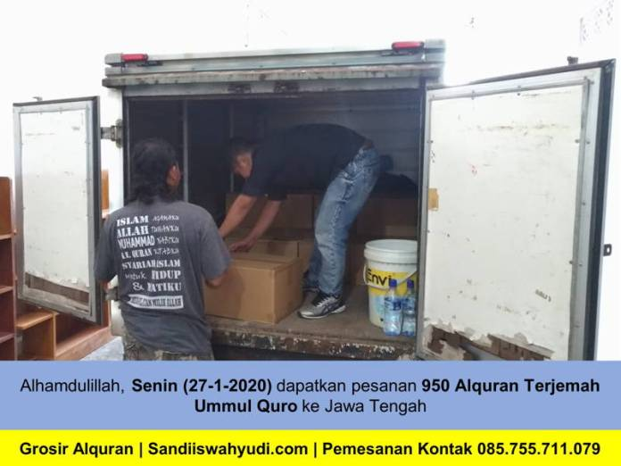 Grosir, Alquran Terjemah A5 Sebanyak 950 Exp ke Purbalingga