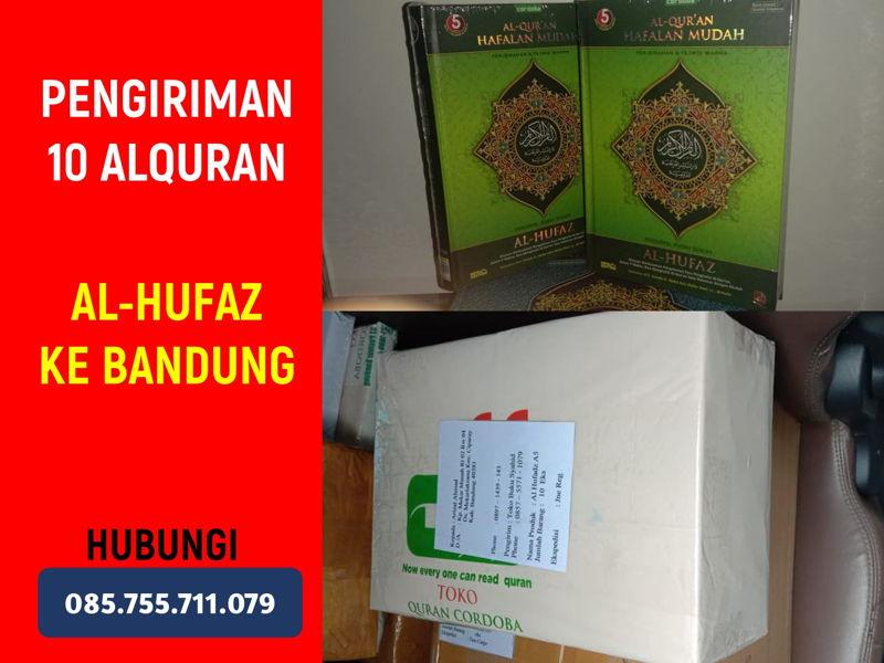 Alquran Hafalan Al-Hufaz Dikirim ke Kab. Bandung