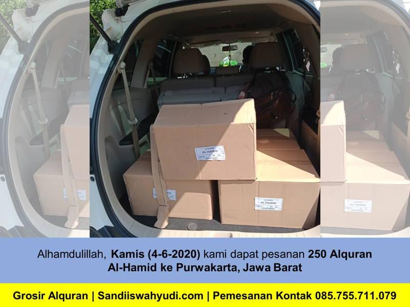 Pemesan 250 pcs Alquran Al-Hamid ke Purwakarta