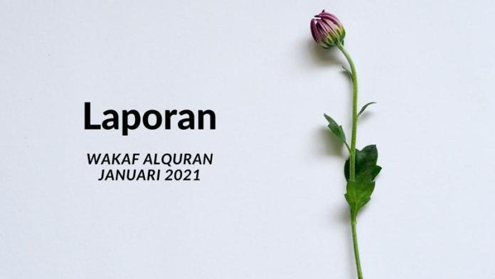 wakaf alquran januari 2021