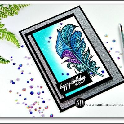 New Video – Masculine Feather Card