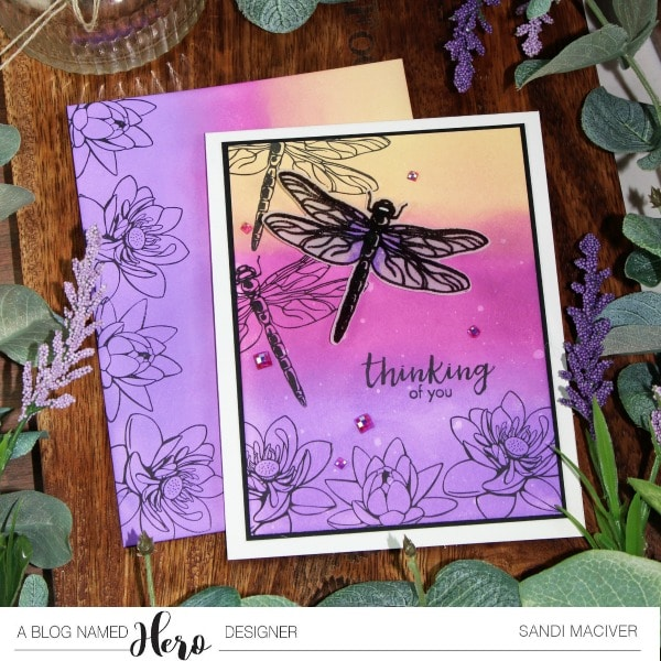 Distress Oxide Ink and Layering Dragonfly