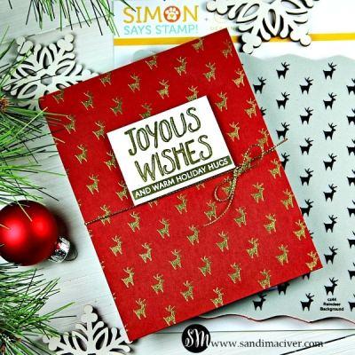 Simon Says Stamp Reindeer Background