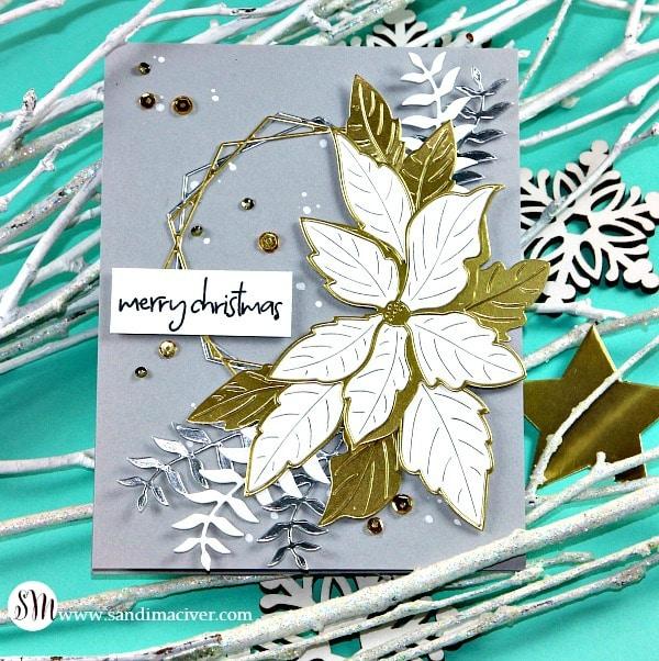 Memory Box Ruffled Poinsettia Christmas Cards