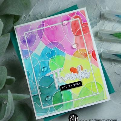 Heart to Heart Rainbow Card