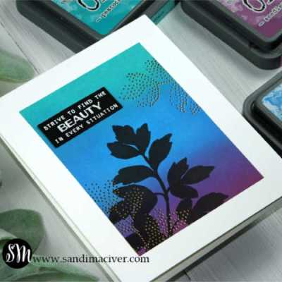 New Video Distress Oxides Color Combos and Cards #3