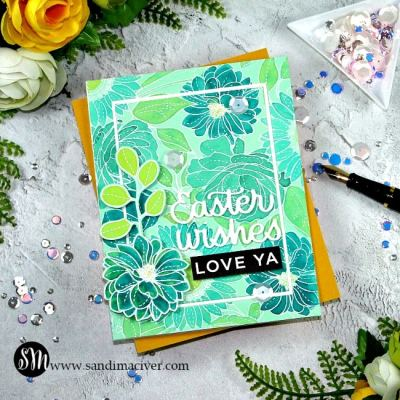 Simon Says Stamp Floral Mix Background