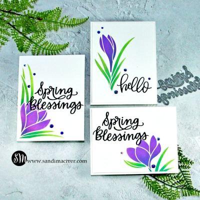 1 stencil 3 cards
