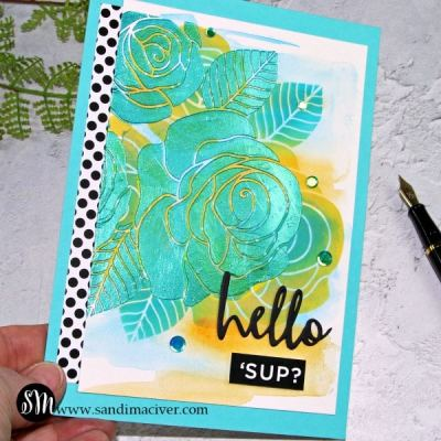 Layered Stencils with Paper Glaze Video
