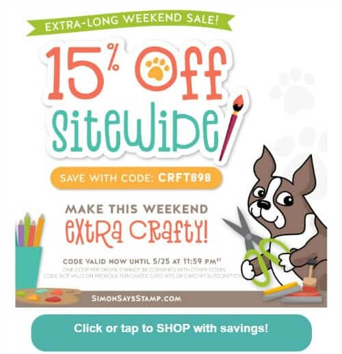 Simon Says Stamp 15 off weekend sale