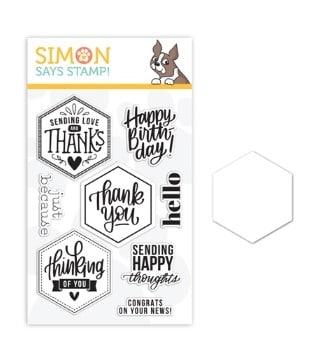 Simon Says Stamp New Release - Crafty Hugs - Hexagon Greetings